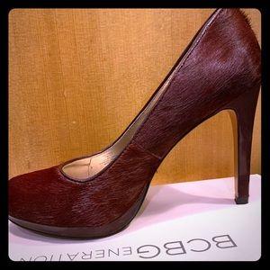 BCBG fur heels